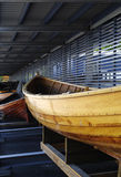 Boat in a boathouse. Stock Image