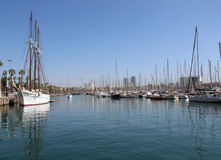Boat. S moored in Barcelona, ​​Spain Royalty Free Stock Photography