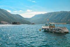 Boat in Boka Kotor bay Royalty Free Stock Image