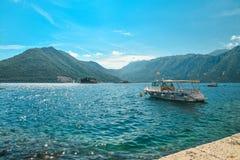 Boat in Boka Kotor bay Royalty Free Stock Photography