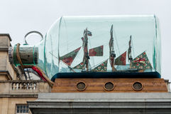 Boat. In a bootle in trafalgar square london Royalty Free Stock Photo