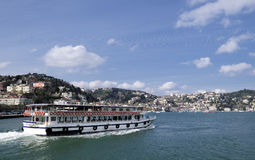 Boat on Bosphorus Royalty Free Stock Photo