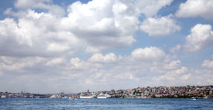 Boat on bosphorus Stock Photo