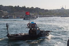 Boat on the Bosphorus Stock Photos
