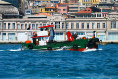 Boat. A boat on the Bosporus, in Istanbul, Turkey Stock Image