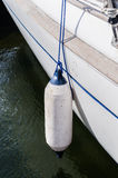 Boat bouy. Bouy hanging from boat stock images