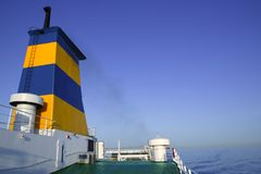 Boat bow in colorful yellow and blue colors Stock Photography