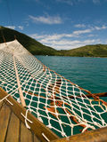 Boat Bow, Sao Paulo, Brazil. Sail Netting and Anchor off Sao Paulo, Brazil Stock Photography
