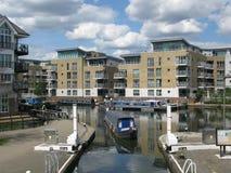 Boat at Brentford Marina, London, UK, Royalty Free Stock Photos