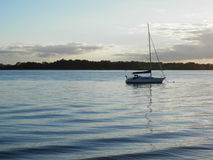 Boat on Bribie Island Passage Royalty Free Stock Photos