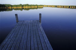 Boat bridge at the lake neusiedl Royalty Free Stock Photos