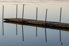 Boat bridge in the Limfjord, Aalborg Royalty Free Stock Images