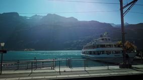 Boat in Brienz royalty free stock image