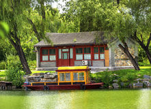 Boat Buidling Canal Summer Palace Beijing China Stock Photography