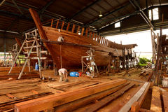 Boat Builders Royalty Free Stock Image