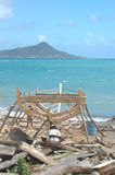 Boat building on Carriacou, Grenada  Royalty Free Stock Images