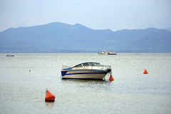 Boat and buoy Royalty Free Stock Images