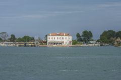 By boat from Burano to the mainland Royalty Free Stock Photography