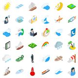 Boat business icons set, isometric style. Boat business icons set. Isometric set of 36 boat business vector icons for web isolated on white background Royalty Free Stock Photos