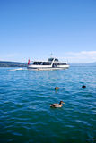 Boat buss on Swiss lake Royalty Free Stock Photography