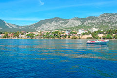 Boat in Cala Gonone Royalty Free Stock Images