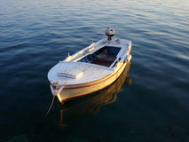 Boat on calm sea Royalty Free Stock Photos