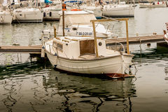 Boat on calm waters Stock Photography