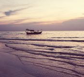 Boat in Cambodia. Fishing boats in Kep,Cambodia Royalty Free Stock Images