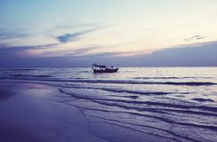Boat in Cambodia. Fishing boats in Kep,Cambodia Stock Images
