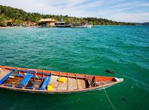 Boat in Cambodia. Fishing boats in Kep,Cambodia Stock Image
