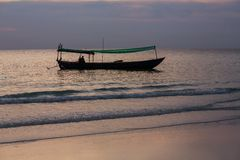 Boat in Cambodia Royalty Free Stock Photography