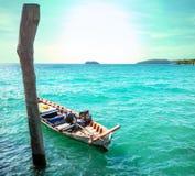 Boat in Cambodia. Fishing boats in Kep,Cambodia Royalty Free Stock Photos
