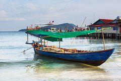 Boat in Cambodia Stock Images