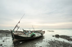 Boat in Cambodia. Fishing boats in Kep,Cambodia Royalty Free Stock Photography