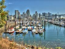 Boat in Canada. Boats in Canada, Vancouver. These yachts were near Granville Island Royalty Free Stock Photos