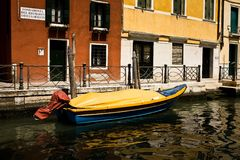 Boat in a Canal Stock Image