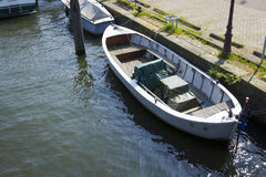 Boat at the canal, Amsterdam Stock Images