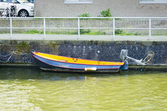 Boat at the canal, Amsterdam Royalty Free Stock Photo
