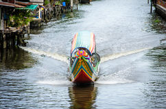 Boat in canal Royalty Free Stock Images