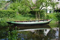 Boat in canal Royalty Free Stock Photo