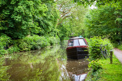 Boat on canal. Oxford, England Stock Photo