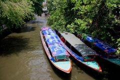 Boat in the cannel Stock Photos