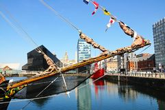Boat in Canning Dock, Liverpool. Royalty Free Stock Photo