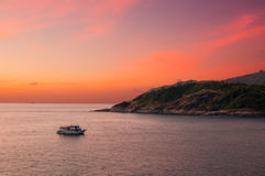 Boat at Cape Phrom Thep Stock Images