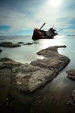 Boat capsized Royalty Free Stock Image