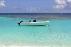 Boat in the Caribbean. Royalty Free Stock Photo