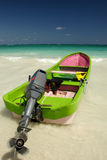 Boat on the Caribbean shore Royalty Free Stock Photography