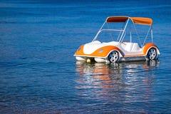 Boat catamaran as car of natural color Stock Images