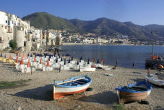 Boat in cefalu Stock Image
