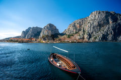 Boat in Cetina river Royalty Free Stock Photos